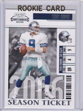TONY ROMO ROOKIE CARD Dallas Cowboys FOOTBALL RC Playoff Contenders MINT!