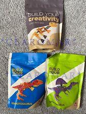 ☀Lot 3 Wendys Build Your Creativity Dino T-Rex Spinosaurus Giganotosaurus Toys