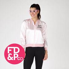 Medium Girls Children's Kids Ladies Jacket Pink Lady Grease Fancy Dress Costume