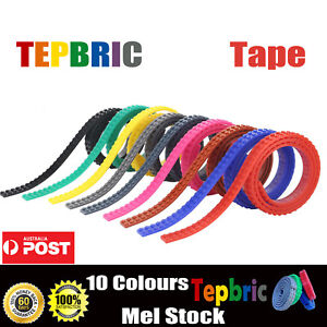 1M For Lego Compatible Tape Toy Block Flexible Sticky Roll Brick Road 2Dot Strip