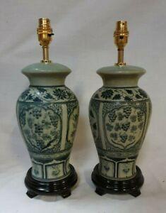 Pair of Thai/Oriental Table Lamp JK-002C