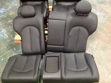 MERCEDES CLK W209 BLACK LEATHER REAR SEAT CUSHIONS AND BACK REST 2002-2009