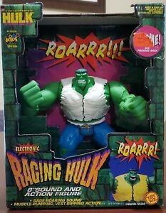 """Toy Biz Electronic Raging Hulk 8"""" 1997 Marvel The Incredible Hulk """"Works!!"""""""