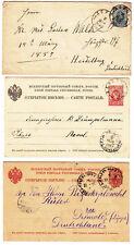 ESTONIA 1885-1912, POSTAL HISTORY SELECTION, 11 ITEMS