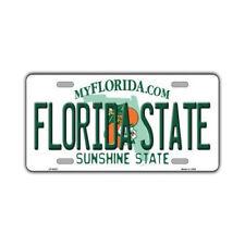 """Metal Vanity License Plate Tag Cover - (Seminoles) Florida State - 12"""" x 6"""""""