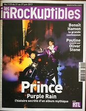 PRINCE LES INROCKUPTIBLES  FRENCH MAGAZINE JUNE 2017 MAG FRANCE PURPLE RAIN