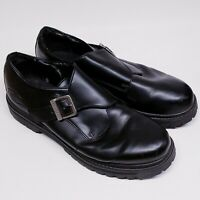 Skechers CASUAL OFFICE Shoes Mens Size 13 Black Leather Monk Strap SN6649