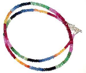 "Fine Silver Tourmaline Strand/String Natural Gemstone 12"" Strand Necklace NVX221"