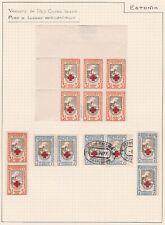 Estonia. 1921-22 Red Cross Issues. Perf x Horizontal Imperf Variety. x6.