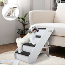 New listing Pet Puppy Steps Dog Cat Stairs Ladder Climb Ramp W/Cover for Couch or Bed Step 4