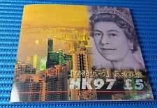 1997 United Kingdom HK97 £5 Pounds Note Commemorative Banknote with Folder