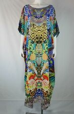 Camilla Franks Round Neck Long Kaftan Space Cowgirl Embellished Silk 3/4 Sleev