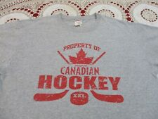 PROPERTY OF MOLSON CANADIAN HOCKEY STICKS T-SHIRT- LARGE GOLDEN BEER  XXX EXPORT