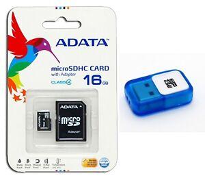 ADATA 16GB Class 4 Micro SD/Micro SDHC/TF Flash Memory Card with USB Reader 16G