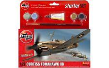 Airfix 1:72 kit modelo de avión Curtiss Tomahawk IIB Starter Set Segunda Guerra Mundial avión A55101