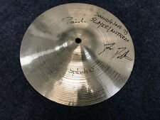"Paiste Signature 10"" Splash Cymbal Used with Slayer and Anthrax Signed"