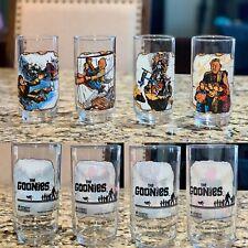 Set Of 4 Goonies 1985 Data Waterslide Sloth Organ Glass Collectors Glasses Mint!