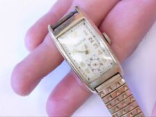 Vtg Bulova 10K RGP Curved Fancy Lug CAL 7AP Wrist Watch. PARTS/RESTO. NEEDS TLC!