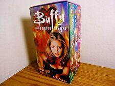 Buffy The Vampire Slayer Tv Show Sarah Michelle Gellar Horror 3 Vhs Box Set Rare