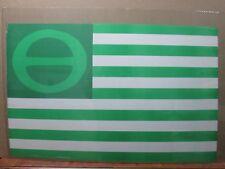 Vintage Black Light Poster LOVE PEACE ECOLOGY FLAG 1970's Inv#G318