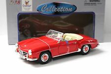 1:18 Welly Mercedes 190SL Cabrio 1955 red NEW bei PREMIUM-MODELCARS