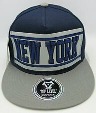 NEW YORK Snapback Cap Hat Yankees Knicks Caps Hats Navy Gray NWT