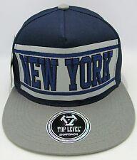 NEW YORK Snapback Cap Hat Yankees Knicks Caps Hats Navy Gray NWT