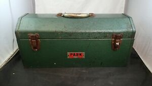 Vintage PARK Mfg Co. Model 20H Green Tool Box Chest w/Removable Tray  ~ USA