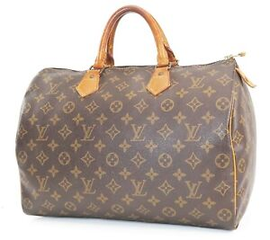 Authentic LOUIS VUITTON Speedy 35 Monogram Boston Handbag Purse #38978