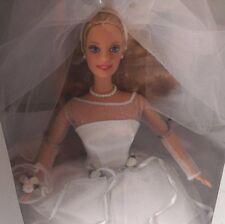 Barbie Blushing Bride New In Box 1999 Wedding Gown & Veil White
