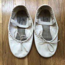 ABT American Ballet Theatre white leather ballet slippers shoes girls size 8.5