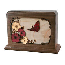Wood Cremation Urn (Wooden Urns) - Walnut Small Hummingbird