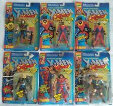 6 MARVEL COMIC ORIGINAL MUTANT SUPER HERO X-MEN X FORCE FIGURES TOY BIZ 1990s