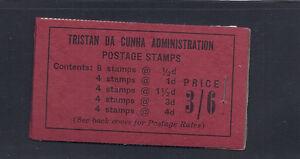 TRISTAN DA CUNHA 1958 3/6 BOOKLET SG SB2 VF