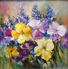 A870269  NO Frame  Hand painted Oil Canvas Wall Art Home Decor Flower