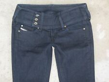 Diesel Jeans Womens Cherock Low Bootcut Stretch Sz 26 Dark Blue Wash AA8  $198