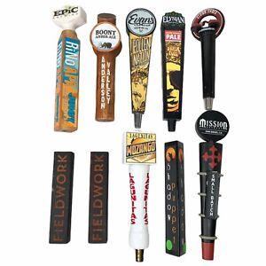 10 Random Beer Tap Handles Lot