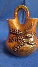 Authentic Navajo Hand Coiled Corn Pattern Pottery Wedding Vase Lavina Bartlett