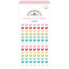 Doodlebug Tiny Hearts Sprinkles Enamel Shapes 5834