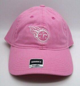 Tennessee Titans Logo Cap Pink Womens New Era Reebok Adjustable Strapback NFL