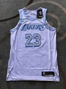 Lebron James Lakers Authentic City Edition Jersey Size 44 M Elgin Baylor Nike