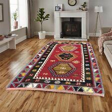 9780 Vintage Turkish Kilim Handmade Tribal Kitchen Oriental Wool Kilim Rug 4x3