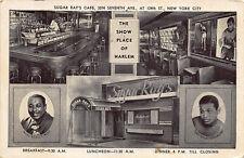 New York NY Harlem Sugar Ray Robinson Boxing Restaurant Postcard