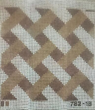 Vintage latch hook rug canvas only large 18� Square Geometric Print