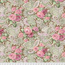 Verna Mosquera PWVM185 Autumn Grace Rose Paisley Cinnamon Fabric By Yd