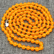 "New Beautiful  6mm Brazil topaz Gemstone Beads Necklace 36 ""AA"