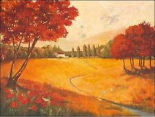 Claudia Ancilotti: Indian Summer Keilrahmen-Bild Leinwand Landschaft Idylle