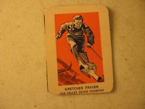 WHEATIES CEREAL HAND CUT SPORTS CARD GRETCHEN FRASER SUN VALLEY SKIING CHAMPION