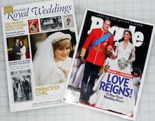 ROYAL WEDDINGS Illustrated & People MAGAZINE LOT Princess Diana William & Kate