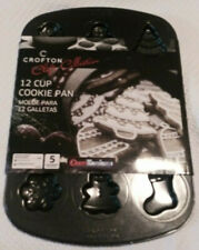 🎄 Nip- Black- 15.5 X 10.5 X .6 In Crofton Chefs Collection 12 Cup Cookie Pan 🎄